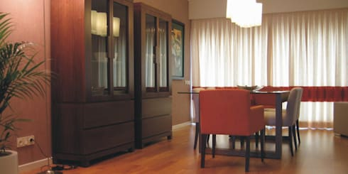 Sala Comum_Zona de refeições: Salas de jantar modernas por Traço Magenta - Design de Interiores