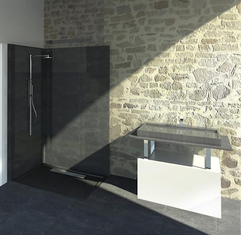 r habilitation salle de bain la roche sur yon par sl20 architecture homify. Black Bedroom Furniture Sets. Home Design Ideas