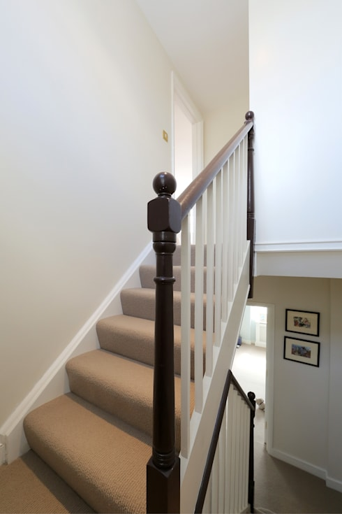 double mansard loft conversion chelsea:  Corridor & hallway by nuspace