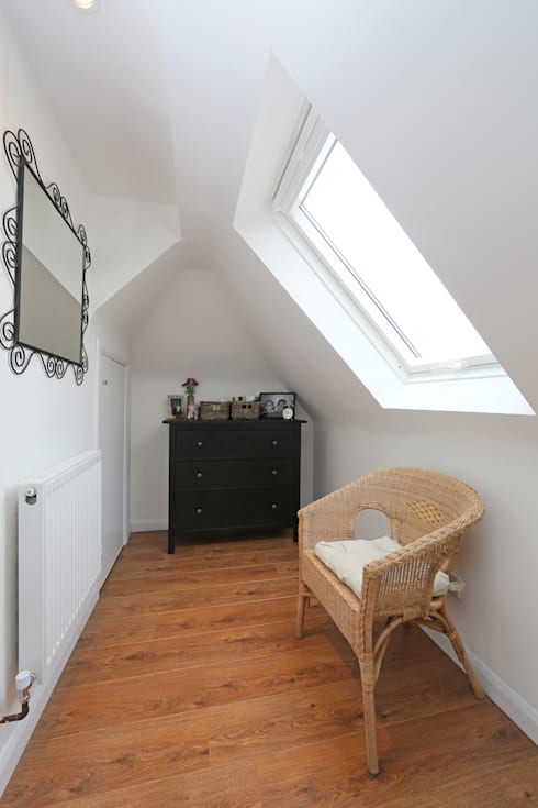 l-shaped dormer loft conversion richmond: modern Dressing room by nuspace