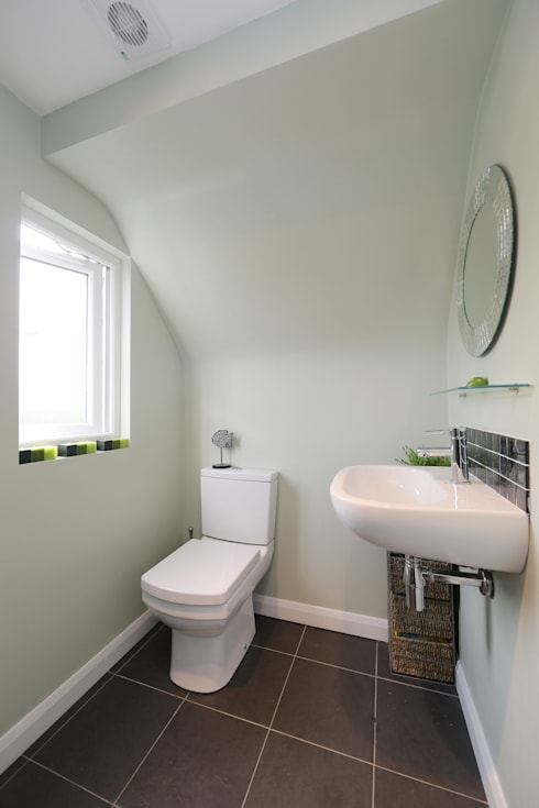 l-shaped dormer loft conversion richmond: modern Bathroom by nuspace