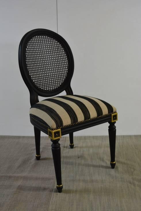 Marangoz Çırağı – Louis XVI Medallion Yemek Sandalyesi: klasik tarz tarz Yemek Odası