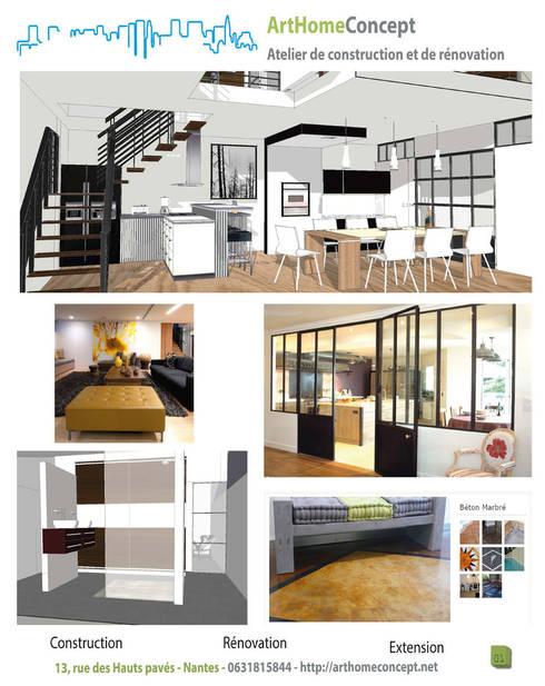 r novation nantes par arthomeconcept homify. Black Bedroom Furniture Sets. Home Design Ideas