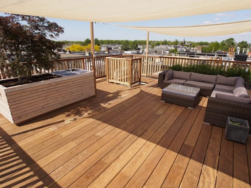 Dakterras: modern Balkon, veranda & terras door ScottishCrown Dakterrassen