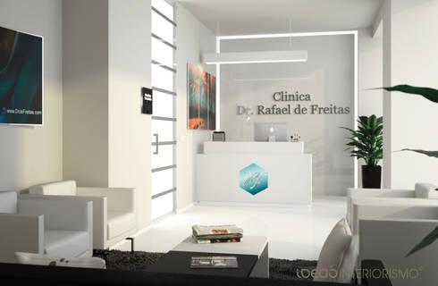 Proyecto de interiorismo en Clínica Capilar.: Clínicas de estilo  de Ideas Interiorismo Exclusivo, SLU