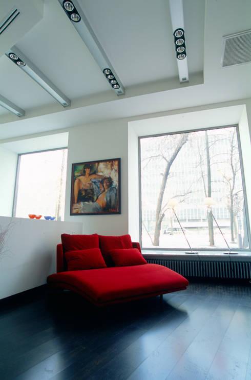 Зона отдыха Rolf Benz: Офисы и магазины в . Автор – Архитектурное бюро Лены Гординой