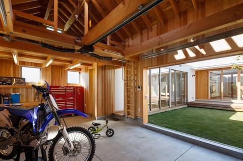 バイクガレージ: 窪江建築設計事務所が手掛けたガレージです。