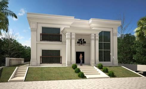 Casa neoclassica moderna di tra o final arquitetura e - Casa stile neoclassico ...