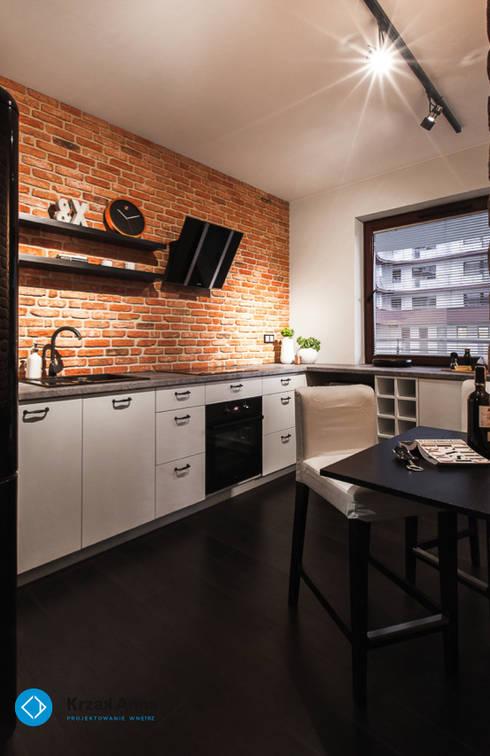 mieszkanie kawalera: styl , w kategorii Kuchnia zaprojektowany przez Anna Krzak architektura wnętrz