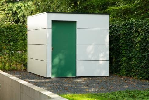 Moderne holzgarage  Gartenhauptdarsteller: moderne design Gartenhäuser - nichts von ...