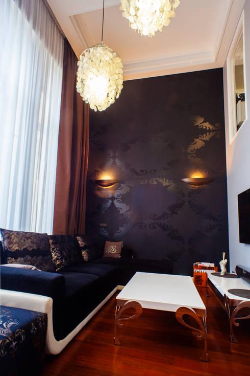 гостиная в апартаментах:  в . Автор – Елена Савченко. Студия интерьера