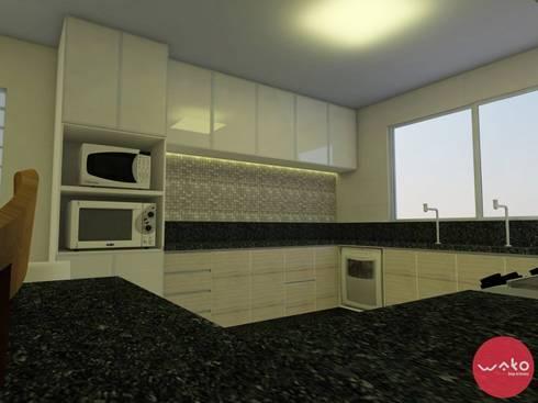 Cozinha : Cozinhas modernas por WAKO Design de Interiores