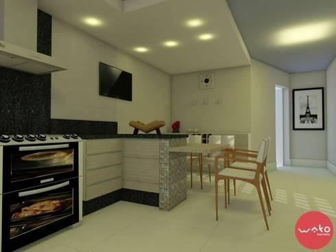 Cozinha: Cozinhas modernas por WAKO Design de Interiores