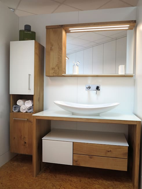 massivholz badm bel por henche m belwerkst tte homify. Black Bedroom Furniture Sets. Home Design Ideas