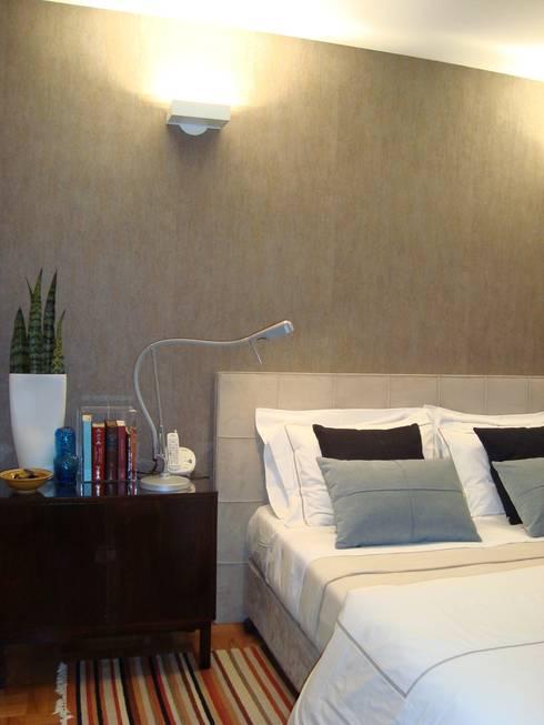 Dormitorios de estilo escandinavo por AMMA PROJETOS