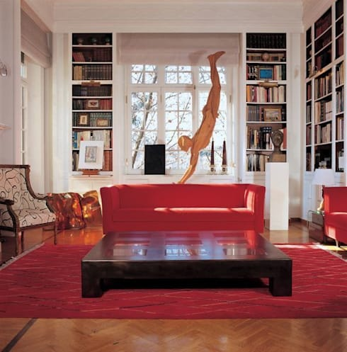Abitazione Lungotevere dei Mellini: Soggiorno in stile in stile Classico di MCM Arch