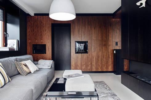 Apartament w Gdyni 2012: styl , w kategorii Salon zaprojektowany przez formativ. indywidualne projekty wnętrz