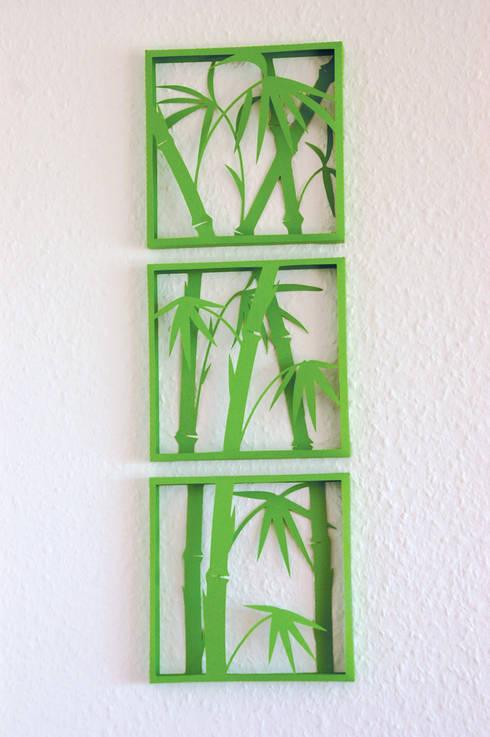 3D Bild, Bambus, 3-teilig:  Wände & Boden von pillow beag