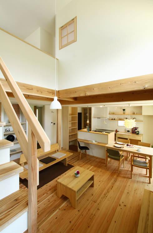 scandinavian Living room by 有限会社 コアハウス