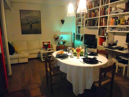 Ristrutturazione di un appartamento alla garbatella di for Concetti di soggiorno