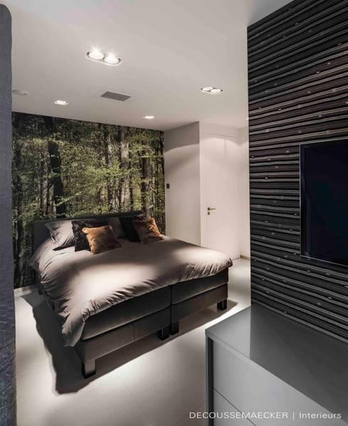 Projekty,  Sypialnia zaprojektowane przez Decoussemaecker Interieurs