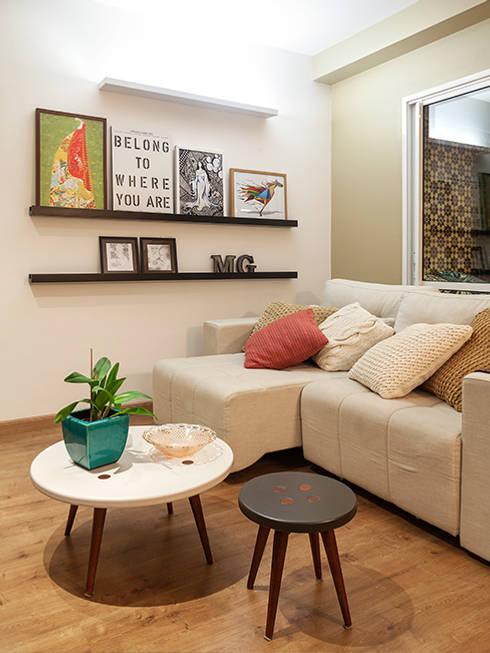 Salas / recibidores de estilo  por Isabela Bethônico Arquitetura
