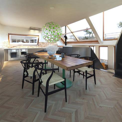 Vis: moderne Keuken door M&M Watervilla