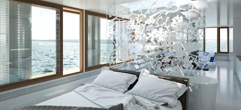 Pied a L' eau: moderne Slaapkamer door M&M Watervilla