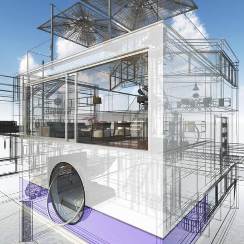 Jacht: moderne Huizen door M&M Watervilla