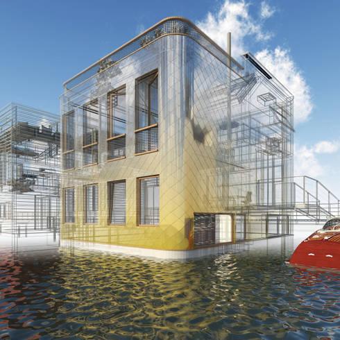 Vis: moderne Huizen door M&M Watervilla
