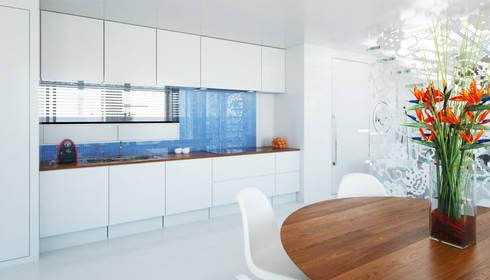 Pied a L' eau: moderne Keuken door M&M Watervilla