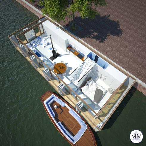Pied a L' eau: moderne Huizen door M&M Watervilla