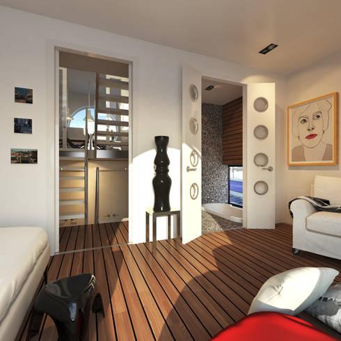 Jacht: moderne Slaapkamer door M&M Watervilla