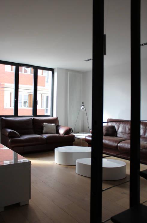 Atelier d'architecture Pilon & Georges의  거실