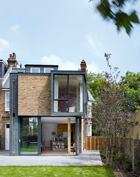 Milman Road - garden elevation:  Terrace house by Syte Architects