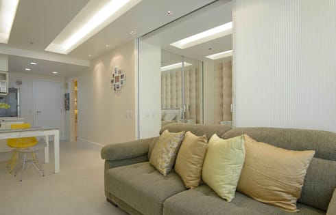Sala de Estar Integração Parcial: Salas de estar modernas por fpr Studio