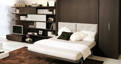 schrankbetten door homify. Black Bedroom Furniture Sets. Home Design Ideas