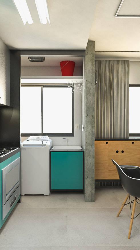 Apartamento IM: Cozinhas industriais por 285 arquitetura e urbanismo