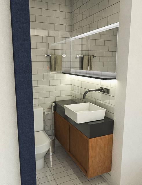 Apartamento IM: Banheiros industriais por 285 arquitetura e urbanismo