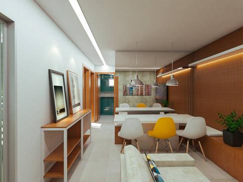 Apartamento AR: Salas de estar modernas por 285 arquitetura e urbanismo