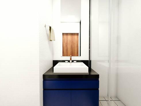 Apartamento LS: Banheiros modernos por 285 arquitetura e urbanismo