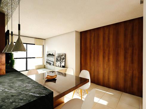 Apartamento LS: Salas de estar modernas por 285 arquitetura e urbanismo