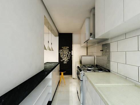 Apartamento LS: Cozinhas modernas por 285 arquitetura e urbanismo