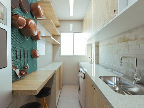Apartamento AR: Cozinhas modernas por 285 arquitetura e urbanismo