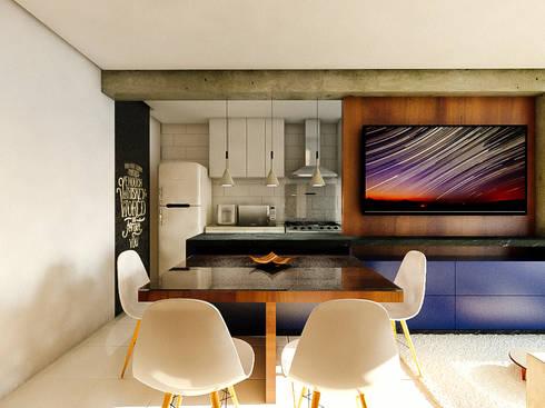 Apartamento LS: Salas de jantar modernas por 285 arquitetura e urbanismo