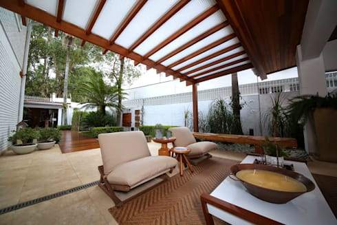 Residência Jardim Marajoara: Terraços  por MeyerCortez arquitetura & design