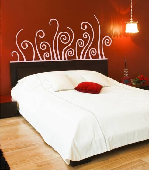 Cabeceros de Cama en Vinilo Decorativos: Dormitorios de estilo  de Visualvinilo