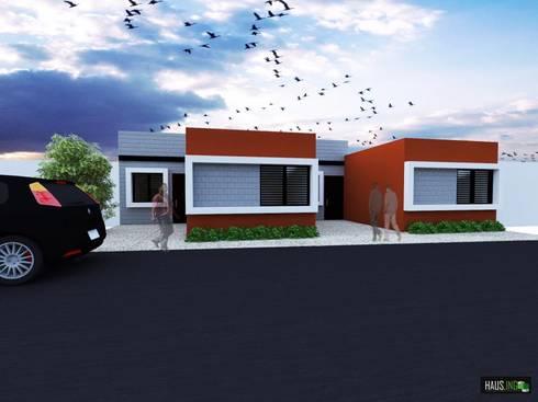 PROTOTIPOS DE VIVIENDAS DE INTERES SOCIAL: Casas de estilo moderno por hausing arquitectura