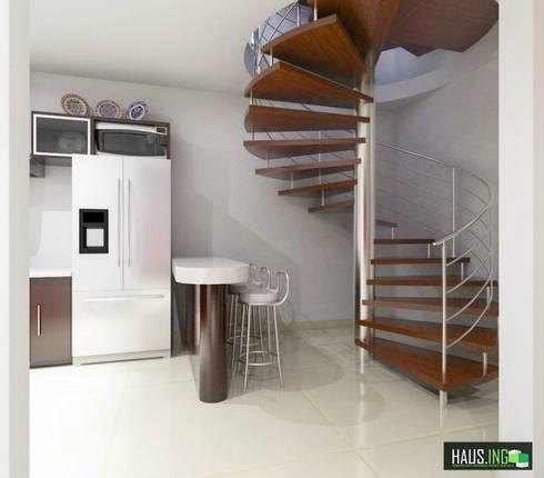 CASA SO: Pasillos y recibidores de estilo  por hausing arquitectura