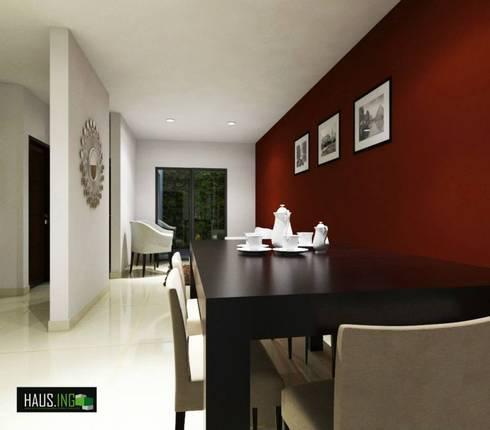 CASA SO: Comedores de estilo moderno por hausing arquitectura